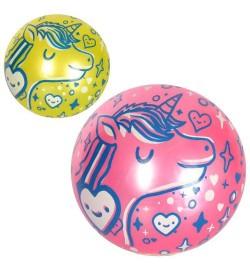 Мяч детский MS 2486 (240шт) 9дюймов, рисунок, 55-65г, ПВХ, 2цвета