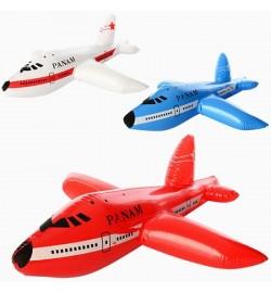Надувная игрушка MSW 021 (360шт) самолет 58см, 3цвета, в кульке, 14-16см