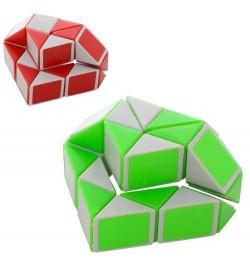 Игра 009A-1 (360шт) логическая, змейка, 2цв, в кульке, 14-13-3,5см