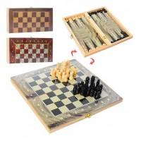 Шахматы 28ACD (60шт) 3в1(шашки,нарды), 3цвета, в кульке, 27,5-14-3,5см
