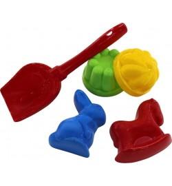Набор-песочный  №329: лопатка №5, формочки (заяц + лошадка), 2 формочки