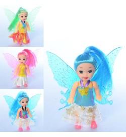 Кукла 0004A (420шт) фея, 12см, 4вида, в кульке, 12-16-2,5см