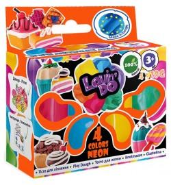 Набір тіста для ліплення ТМ Lovin'Do Асорті 4 кольори Неон тесто