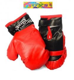 Боксерские перчатки M 5445 (48шт) 2шт, 22см,  на липучке, в кульке,31-31-7см