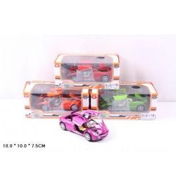 Машина метал. 616 (48шт/2) батар.,свет,звук,откр.двери,в коробке 18*10*7,5см