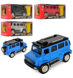 Машинка AS-2100 (48шт) АвтоСвіт,металл,инер-я,12см,откр.дв, св, бат(таб), 4цв,,в кор,15-7-7см