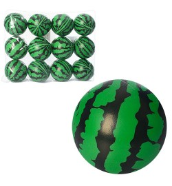 Мяч детский фомовый MS 0239-2 (120шт) 3дюйма,арбуз,1вид,12шт в кульке,