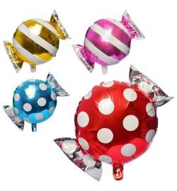 Шарики надувные фольгированные MK 2741 (200шт) конфета, 44-59см, 2аида,2цв,50шт