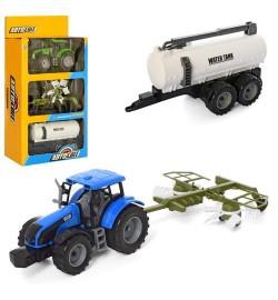 Трактор AS-2023 (24шт) АвтоСвіт, инер-й, 20см, прицеп2шт, 2цвета, в кор-ке, 26-46-11см