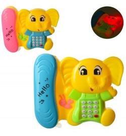 Телефон 708 (216шт) муз, звук(англ), свет, на бат-ке, в кульке, 13,5-11,5-3,5см