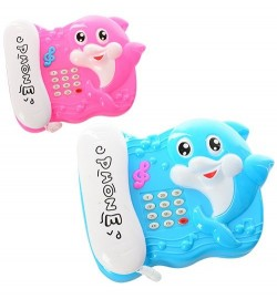 Телефон 702 (288шт) муз,звук, свет, 2цвета, на бат-ке, в кульке, 16,5-13-3,5см