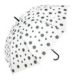 Зонтик MK 3621-2 (60шт) длин82см, трость75см,, диам100см, спица58см, клеенка, прозрач, 5цв, в кульк