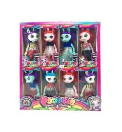 Кукла-герой DJ-6A (160шт) POO, 16см, 16шт(8видов) в дисплее, 32,5-35-11см
