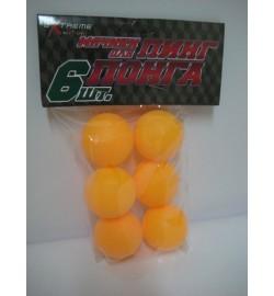 Теннисные мячики TB0101 (240шт) в пакете по 6 штук 38мм