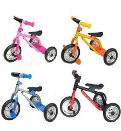 Велосипед M 0688-2 (4шт) три колеса серо-голб малин, ор-жел, кр-черн