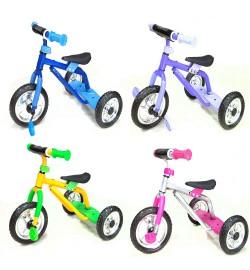 Велосипед M 0688-1 (4шт) три колеса серо-роз, голуб, жел-зел, фиол