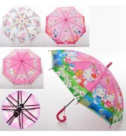 Зонтик детский MK 3630-5 (60шт) HK, длина66см,трость61см,диам83см,спиц48см,клеенка,свисток,5видов