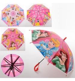 Зонтик детский MK 3630-6 (60шт) DP, длина67см,трость61см,диам83см,спиц48см,клеенка,свисток,4вида
