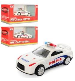 Машинка K105A-20 (168шт) металл, инер-я, полиция, 8,5см, 3 вида, в кор-ке, 13-7-6см