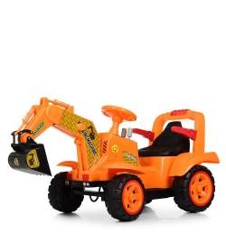 Трактор M 4142L-7 (1шт) 1мотор25W, 1аккум6V4,5AH, муз, свет, MP3, кож.сиденье, оранж.