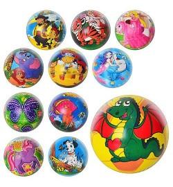 Мяч детский MS 0254 (360шт) 6 дюймов, полноцвет, 12 видов, ПВХ, в кульке