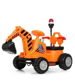 Трактор M 4143L-7 (1шт) 1мотор25W, 1аккум6V4,5AH, муз, свет, MP3, кож.сиденье, толокар