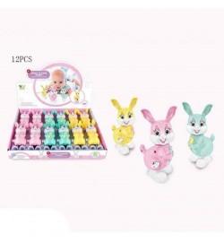 Заводная игрушка A780-30 (288шт) зайчик, 12,5см, 12шт(3цв) в дисплее,35-25-8см