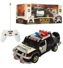 Машина 755-22-25 (18шт) р/у, полиция, 24см,свет,рез.колеса,на бат-ке,2вид,в кор-ке, 32,5-12,5-15,5с