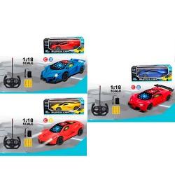 Машина JH-991-2-3A (36шт) р/у, аккум,22,5см,1:18,свет,3Dсвет,рез.кол,3вида(микс цв),кор,27-9,5-12см