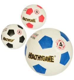 Мяч футбольный MS 2261 (50шт) размер 4, резина Grain, 270-290г, игла, сетка, 3цв, в кульке