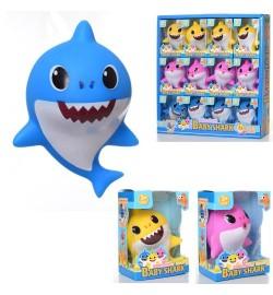 Животное 1218-B (216шт) акула, 11,5см, брызгалка, 12шт(3вида) в дисплее, 34,5-35,5-6см