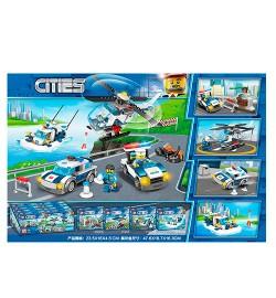 Конструктор 65006 (144шт) город, полиция.транспорт,фигурка, от113дет,8шт(4вид) в дисплее, 47-16-19с