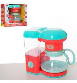 Кофеварка 6204 (36шт) 19см, звук, свет, льется вода, на бат-ке, в кор-ке, 23-24-14см