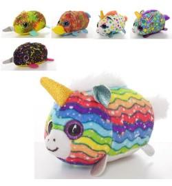 Мягкая игрушка MP 2081 (120шт) животное, размер маленький, 12см, глазастики, микс видов