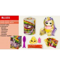 Игровой набор Rainbow BL1151(144шт/2) фигурка 10,5*6см, аксессуары, пластилин, в коробке 9,5*9,5*12