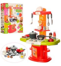 Кухня 16808 (8шт) плита,духовка,мойка,посуда,продукты,24предм,зв,св,на бат-ке,в кор-ке,54-45-10,5см