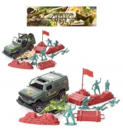 Солдаты в наборах AX-C3701-3801 (96шт) комбат,джип-инер,самолет,баррикады, 2вида, в кульке,19-22-8с