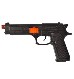 Пистолет A13-2 (432шт) 23см, звук(трещотка), в кульке, 16-28-4см