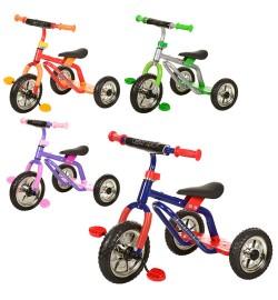 Велосипед M 0688-3 (4шт) три колеса серо-зел, фиол-роз, красн-желт, син-кр