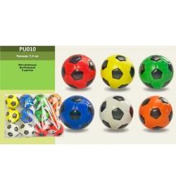 Мяч фомовый PU010  (50уп по 12шт/2) футбол, 6 цветов, 7,5см, цена за 1  штучку. В пакете 12 штук