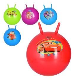 Мяч для фитнеса MS 3166 (25шт) с рожками,45см одностикерный,450г, 5вид(ЩП,ТЧ,FR-2в,СП),кул,19-14-5с