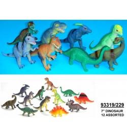 Динозавр Гонконг 229 резин. 7'' 12в.24шт.в кор./12/288/