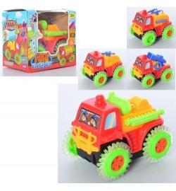 Пожарная машина 0859 (144шт) 11см, 4вида, на бат-ке, в кор-ке, 11,5-10,5-9см