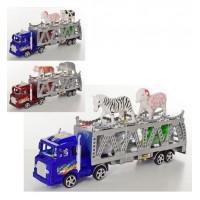 Трейлер 71T79-5-6 (120шт) инер-й, мотоцикл2шт,животные2шт, 2вида, в кульке, 25-11-4см