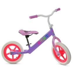 Беговел PROFI KIDS детский 12 д. M 3847-1 (1шт)колеса EVA,пласт.обод,сиренево-малиновый