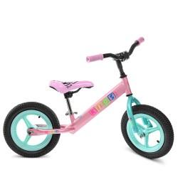 Беговел PROFI KIDS детский 12 д. M 3846A-2 (1шт) рез.колеса,пластик.обод,розов.-мята