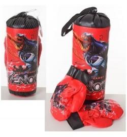 Боксерский набор M 6208 (96шт) МГ, груша 30-11см, перчатки 2шт, в сетке, 30-15-11см бокс