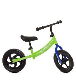 Беговел детский PROFI KIDS 12 д. М 5457-2 (1шт) колEVA,пласт.обод,подшипн,CNCось,зеленый