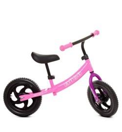 Беговел детский PROFI KIDS 12 д. М 5457-4 (1шт) колEVA,пласт.обод,подшипн,CNCось,розовый