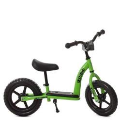 Беговел детский PROFI KIDS 12д. М 5455-2 (1шт) колEVA,пласт.обод,подст.для ног,подн,зеленый